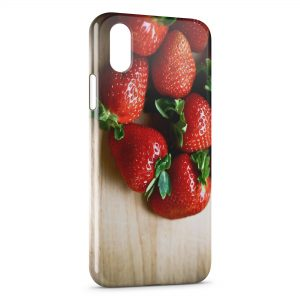 Coque iPhone X & XS Fraises Fruits