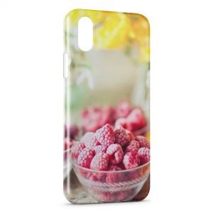 Coque iPhone X & XS Framboises Yumi