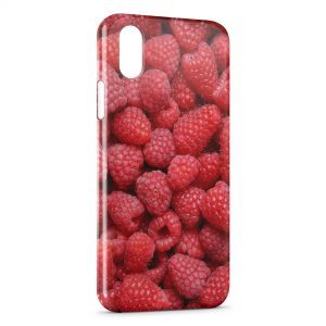 Coque iPhone X & XS Framboises en Folie