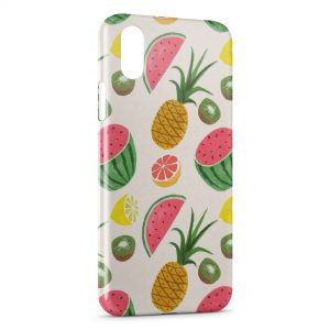 Coque iPhone X & XS Fruits Style