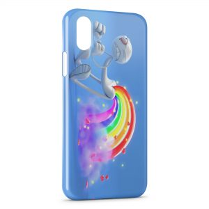 Coque iPhone X & XS Fun Cartoon Arc en Ciel