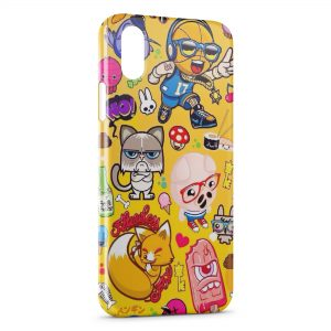 Coque iPhone X & XS Funny Little Monsters