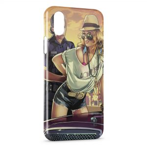 Coque iPhone X & XS GTA Police