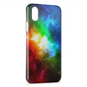 Coque iPhone X & XS Galaxy Colors