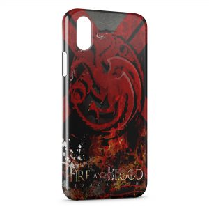 Coque iPhone X & XS Game of Thrones Fire and Blood Targaryen
