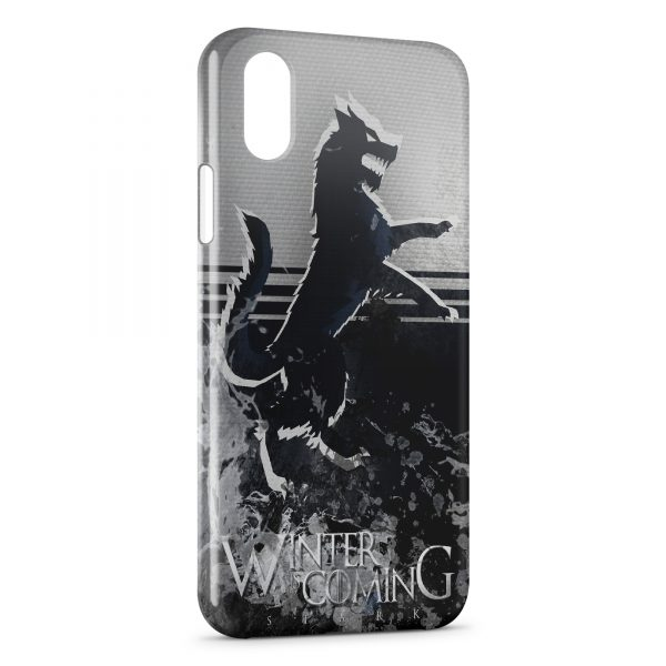Coque iPhone X & XS Game of Thrones Winter is Coming Stark