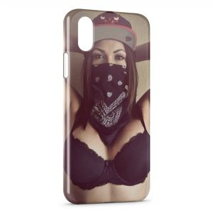 Coque iPhone X & XS Girl Hardcore