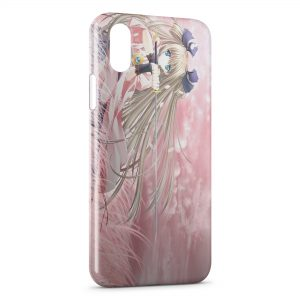 Coque iPhone X & XS Girl Manga Pink