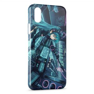 Coque iPhone X & XS Girl Music Space