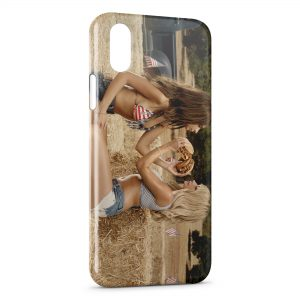 Coque iPhone X & XS Girls & Burgers