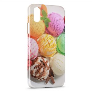 Coque iPhone X & XS Glaces Colors