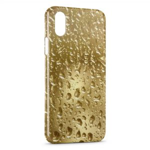 Coque iPhone X & XS Gold Gouttes d'eau