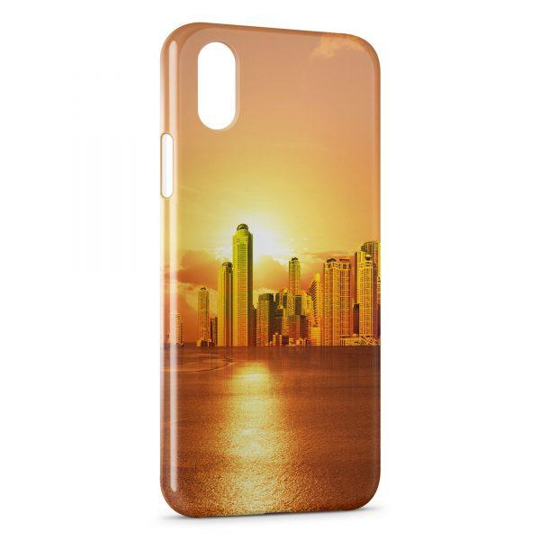 Coque iPhone X & XS Golden City