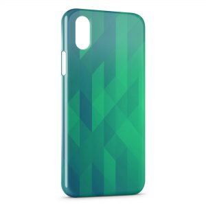 Coque iPhone X & XS Green 3D Design
