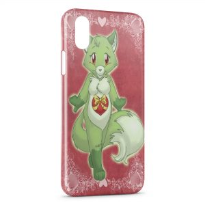 Coque iPhone X & XS Green Fox Renard