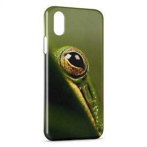 Coque iPhone X & XS Grenouille Œil