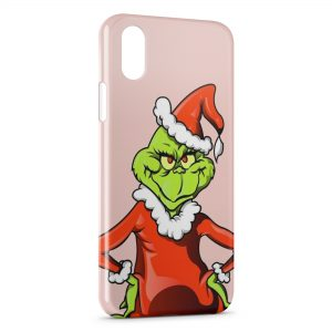 Coque iPhone X & XS Grinch Perso Animation Art