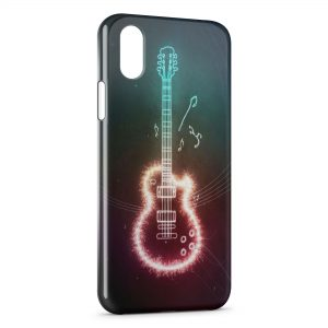 Coque iPhone X & XS Guitare Graphic Colored