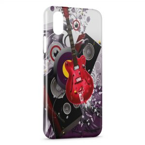 Coque iPhone X & XS Guitare Rouge Graphic Style