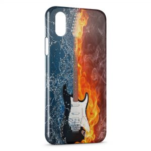 Coque iPhone X & XS Guitare Water & Fire