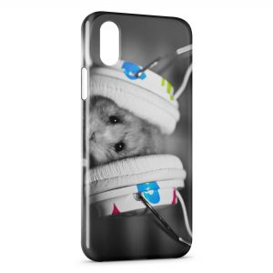 Coque iPhone X & XS Hamster Music