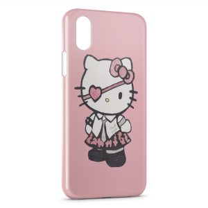 Coque iPhone X & XS Hello Kitty Robe Rose