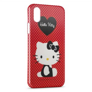 Coque iPhone X & XS Hello Kitty Rouge
