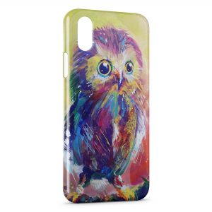 Coque iPhone X & XS Hiboux Art Painted