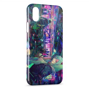 Coque iPhone X & XS High Tech Anime Manga Girl