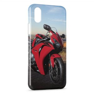 Coque iPhone X & XS Honda cbr 1000rr Rouge Moto