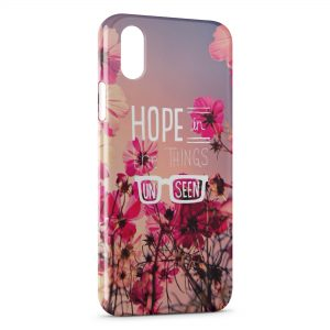 Coque iPhone X & XS Hope in the Things Un Seen
