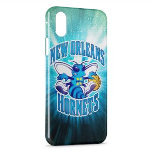 Coque iPhone X & XS Hornets BasketBall USA