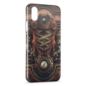 Coque iPhone X & XS Horror Machine Art