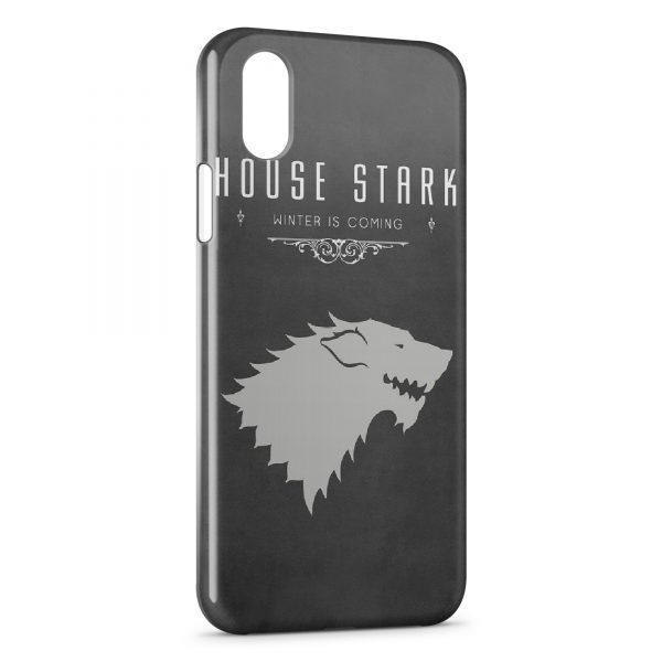 Coque iPhone X & XS House Stark Winter is Coming Games of Throne