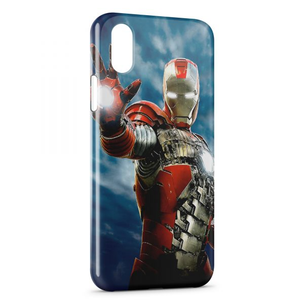 Coque iPhone X & XS Iron Man in Sky