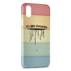 Coque iPhone X & XS Its like chocolate