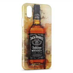 Coque iPhone X & XS Jack Daniel's Black Design 4