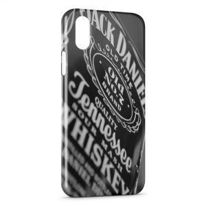 Coque iPhone X & XS Jack Daniels Black Vintage