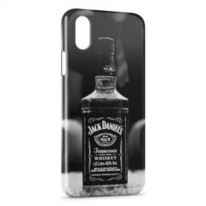 Coque iPhone X & XS Jack Daniel's Black & White Sexy Girl