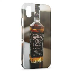 Coque iPhone X & XS Jack Daniels Brut