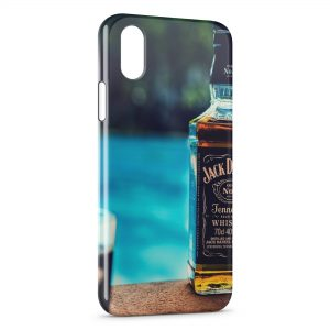 Coque iPhone X & XS Jack Daniel's Swimming Pool