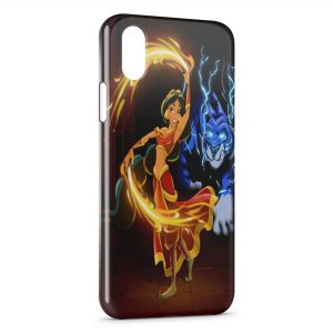 Coque iPhone X & XS Jasmine Aladdin Art