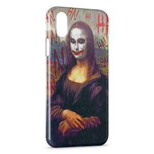 Coque iPhone X & XS Joconde Joker Batman