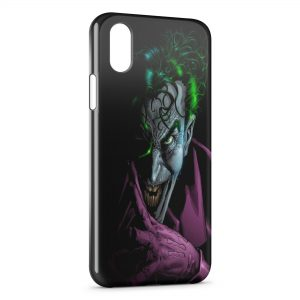 Coque iPhone X & XS Joker Batman Violet