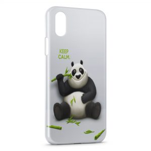 Coque iPhone X & XS Keep Calm Panda