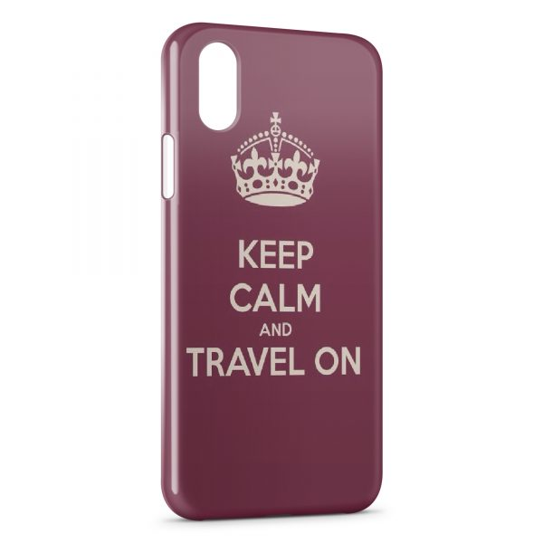 Coque iPhone X & XS Keep Calm and Travel On