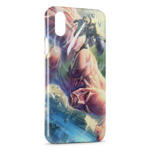 Coque iPhone X & XS L'Attaque des Titans 3