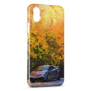 Coque iPhone X & XS Lamborghini Automne