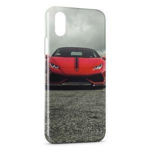 Coque iPhone X & XS Lamborghini Rouge