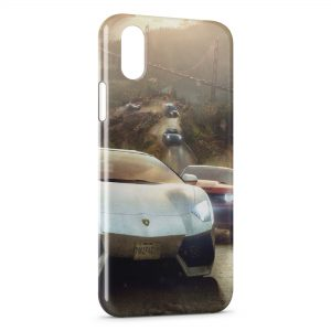 Coque iPhone X & XS Lamborghini Vintage Art